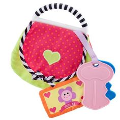Carters Activity Purse by Carters. $9.99. From the Manufacturer                Carters Activity Purse gives baby lots of fun things to explore and includes velcro change pocket, crinkle monkey, chew keys, and mirror. Bright stimulating colors and textures for imaginative play.                                    Product Description                Carters Activity Purse gives baby lots of fun things to explore and includes velcro change pocket, crinkle monkey, chew keys,...