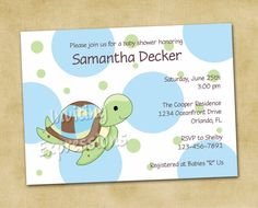 .Polka Dot Sea Turtle Baby