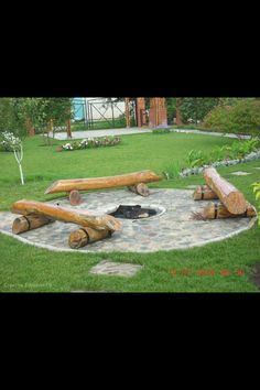 Backyard fire pit- would use benches or chairs though.