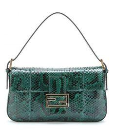 #Fendi python leather baguette #bag #bags