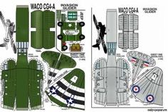 WACO-CG4-GLIDER [Fiddlers Green] из бумаги, модели бумажные скачать бесплатно. Papercraft, paper model free download.