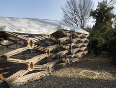 Recycled Pallet Pavilion @ Florence, Italy   by Avatar Architettura