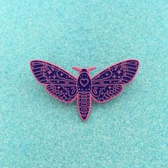 'Heart Moth' Pin (3 Colors!)