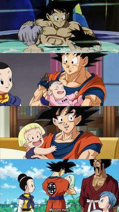 Goku Loves Kids♡^^ —I didn't realize it before but I guess he has always been good with kids...