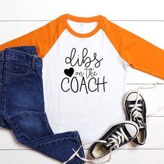 Dibs on the Coach Kids Football Shirt Custom Football | Etsy Kids Football Shirts, Custom Football, Football Design, Making Shirts, Girls Tees, Custom Shirts, Seasons, Etsy, Tops