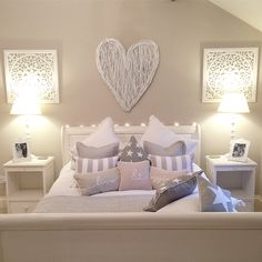 Stunning white #wickerheart and #bedroom in Maison by Emma Jane…