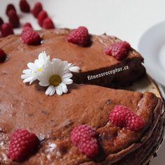Čokoládovo-tvarohový dort s kefírem (bez mouky)