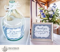 Send us a message in a bottle for us to open on our first anniversary....LOVE this! September SOLARIS yacht Wedding in Destin, Florida: Sherry & Michael