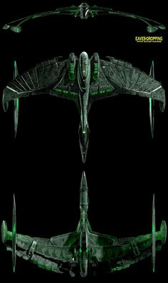 STAR TREK - Romulan Warbird Valdore, a design that does proper homage to the original Warbird design while adding just enough Klingon influence to be seen as a native design benefiting from that foreign input. Klingon Empire, Star Trek Klingon, Star Trek 1, Star Trek Starships, Star Trek Ships, Star Trek Online, Spaceship Art, Spaceship Design, Sci Fi Spaceships