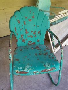 Old Metal Chairs Have Been Seen On More Than One Or Two Old Porches. Bet  This One Has Set On A Few!