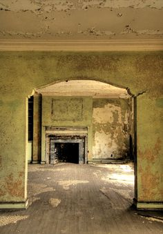 Interior of Ambassador Apartments, Gary IN Abandoned Indiana