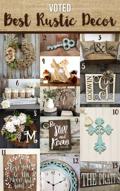 Meet the Makers of some of our favorite handmade Rustic Decor Pieces! *To view the item please click the description* 1.) Whimsy Chic Designs – Burlap Wreath with Beige Peony 2.) The Pink Too…
