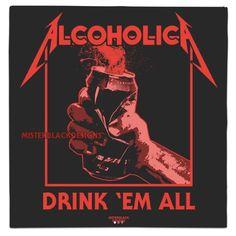 By @misterblackdesigns  #alchol #beer #drink #alcholic #whythelongplayface  #mashup #mashupalbumart #metallica #killemall #alcholic #metal #alcohol #vinyl #lp #music