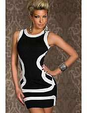 Women's Round Collar Contrast Color Mini Dres... – USD $ 10.39 Comes with multiple color options
