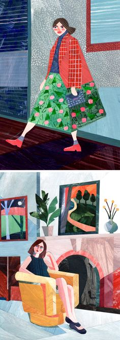 Collage illustrations by Alice Lindstrom