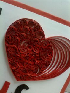 heart going to try some quilling valentine designs and iris folding with my pupils this week quilling - heart idea by pushpa paldiwal Nice for Valentines. the Arts in me: quilling quiling na Stylowi. I received a message today from my sister asking me to Paper Quilling Patterns, Origami And Quilling, Quilled Paper Art, Quilling Paper Craft, Paper Crafts, Diy Crafts, Quilling Ideas, Valentines Design, Valentine Day Crafts