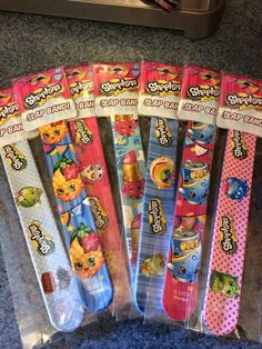 Shopkins Slap Bracelets for favors