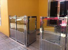 Cancelación y ballar en acero inoxidable y cristal. Tenerife
