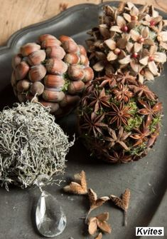 Wonderful idea to tinker with natural materials - Basteln - Natural Christmas, Christmas Home, Christmas Wreaths, Christmas Crafts, Christmas Decorations, Xmas, Christmas Ornaments, Autumn Decorations, Merry Christmas