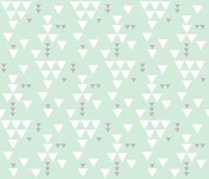 mint gray triangle fall fabric by ivieclothco on Spoonflower - custom fabric
