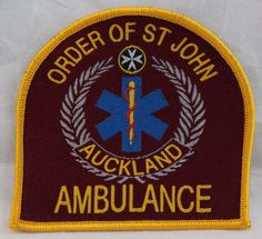 Order of St John Auckland Ambulance Patch Red Patches For Sale, Astros Logo, Houston Astros, Ambulance, Auckland, Selling On Ebay, Team Logo, Saints, Logos