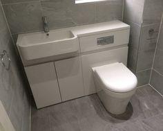 Toilet Sink Combination Unit Wall Mount Kitchen Sink Bathroom Cabinet Lights