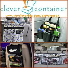 *Car organization with Clever Container! http://www.mycleverbiz.com/aprildelrio/