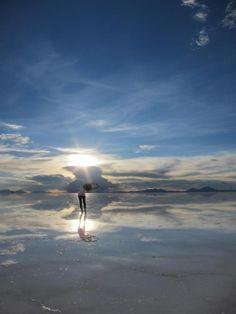 The salt flats at Salar de Uyuni, Bolivia