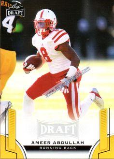 2015 Ameer Abdullah, Nebraska Itm#CF2029 1 Leaf Draft Gold Parallel #02 http://www.rcsportscards.com/nebraska-cornhuskers-football-cards.html
