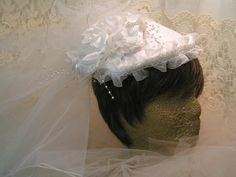White Wedding Veil Made From Lace Bra To Promote Breast AU$138.41Cancer