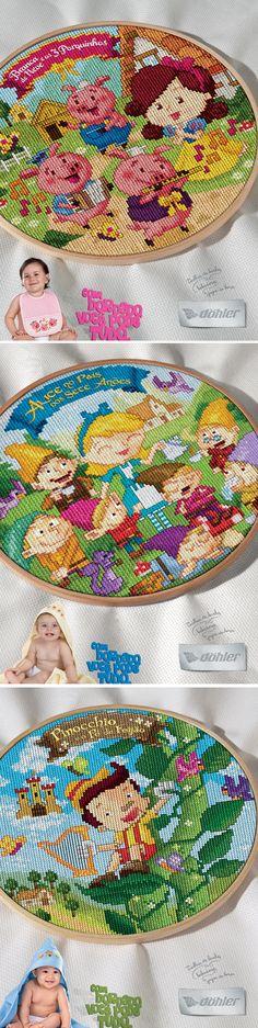 Campanha de produtos para bordar. Döhler Têxtil. Direção de criação e direção de arte.