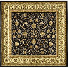 Shop for Safavieh Lyndhurst Collection Black/ Ivory Rug (6' Square). Get free shipping at Overstock.com - Your Online Home Decor Outlet Store! Get 5% in rewards with Club O!