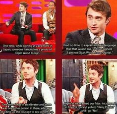 Daniel Radcliff and Elijah Wood