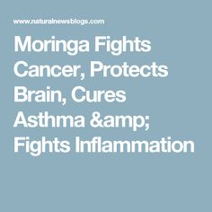 Moringa Fights Cancer, Protects Brain, Cures Asthma & Fights Inflammation