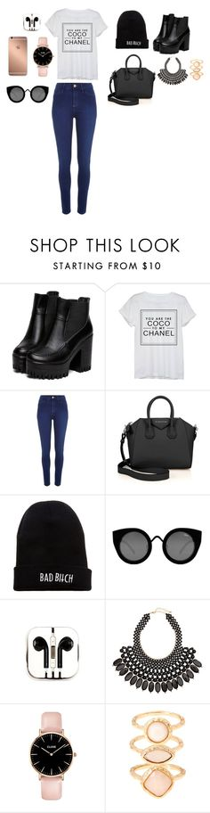 """""""tee-snirt , cocochanel : you are the coco to my chanel"""" by leoniemika on Polyvore featuring mode, Chanel, River Island, Givenchy, Kill Brand, Quay, PhunkeeTree, Mura, H&M et Monsoon"""