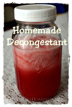 How to Make a Homemade Decongestant Remedy