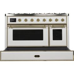 """ILVE Majestic II 48"""" 5.02 cu. ft. Freestanding Dual Fuel Range with Griddle 
