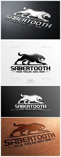 Sabertooth Logo Template by VectorCrow Logo template suitable for businesses and product names. Easy to edit, change size, color and text. CMYK Ai, and EPS formats fully Luxury Logo Design, Vintage Logo Design, Best Logo Design, Graphic Design, Logo Design Template, Logo Templates, Draw Logo, Animal Logo, Typography Logo