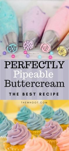 This delicious Buttercream Piping is perfect for all your cupcakes and cakes and we have found you a collection of the best recipes that are delicious.