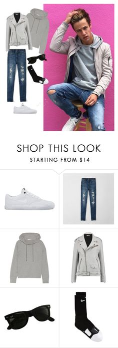 """""""Cameron Dallas Inspired 1"""" by cnsaunders ❤ liked on Polyvore featuring NIKE, Abercrombie & Fitch, James Perse, Just Cavalli and Ray-Ban"""