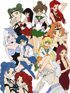 Inner Senshi and the Witches 5 by Kidiu on DeviantArt