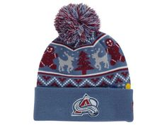 681738ebd5b Colorado Avalanche New Era NHL Ugly Sweater Knit Hats Colorado Avalanche