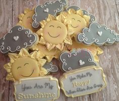 1 dozen You Are My Sunshine Cookies by Magnificookies on Etsy