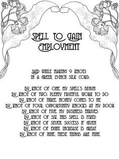 Employment knot spell