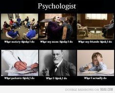 What psychologists do...