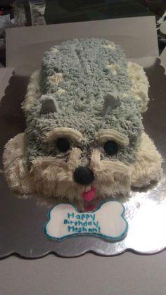 Schnauzer Cake!!!  Too cute!  #Dog #Cake #Schnauzer