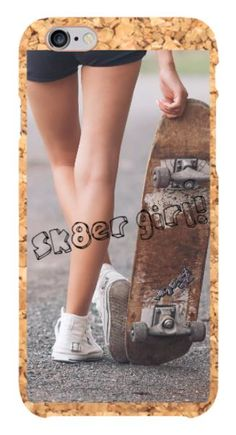 Go girl! Skate all day and protect your phone case with the latest trend! A personalized cork phone case for iPhone 6 and 6S! --> http://custm.cc/n