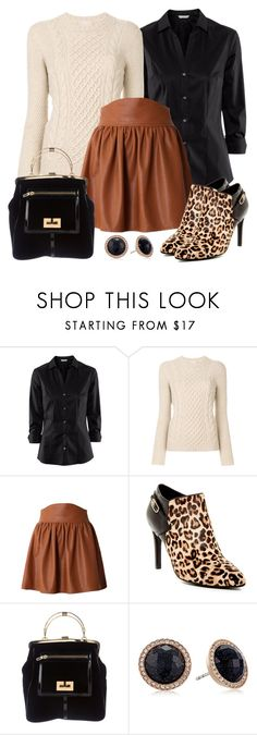 """""""Untitled #1532"""" by gallant81 ❤ liked on Polyvore featuring H&M, Drumohr, Cole Haan, Balmain and FOSSIL"""