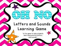 """This is a game to help students whom need practice and reinforcement in letter and sound knowledge.  The name of the game is """"OH NO"""".  All the cards are cut up (there are upper and lower case letters included) and then put in a box/container.  Players take turn pulling out a card and identifying the letter and the sound it makes, then he/she gets to hold onto the card."""