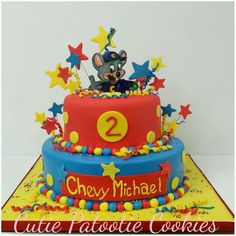 Chuck E. I want to make this, but he wants cupcakes! Chucky Cheese Birthday Party, Chuck E Cheese Birthday, Cheese Party, Birthday Cake Girls, Third Birthday, 3rd Birthday Parties, Chuck E Cheese Cake, Rock Star Cakes, Pastry Design